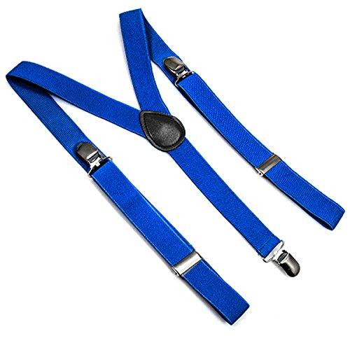 Ferocity Kleine Hosenträger für Kinder Mädchen Jungen 30 Muster Kornblumenblau [012]