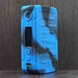 Rayley Protective Silicone Case Skin Cover Sleeve Wrap ModShield for voopoo Drag 2 177W TC Mod Kit (Black Blue)