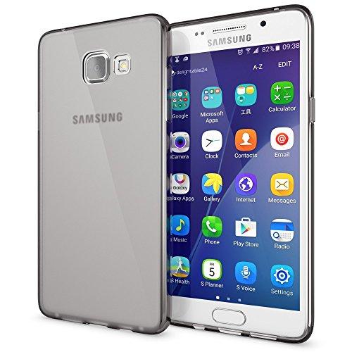 NALIA Custodia compatibile con Samsung Galaxy A3 2016, Cover Protezione Ultra-Slim Case Resistente Protettiva Cellulare in Silicone Gel, Gomma Morbido Bumper Copertura Sottile - Trasparente Grigio