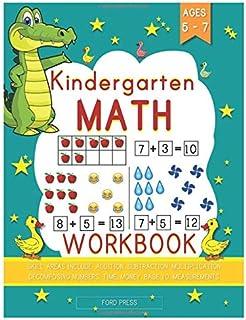 Kindergarten Math Workbook: Kindergarten and 1st Grade Workbook Age 5 - 7 - Early Reading and Writing, Numbers 0-20, Addit...