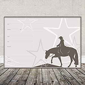 Boxenschild Stallschild Stalltafel Namensschild Pferd 'Western, Quarter Horse, Trail' 20x30cm