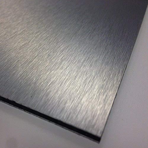 Mehrlagige Platte aus gebürstetem Aluminium, 3mm, Silberfarben, Auswahl aus 9Größen 420mm x 297mm / A3 silber