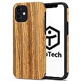 【TaoTech】 iphone 用 TPU ケース 天然木 木製 木目 原木 薄型 木調 シリコン 全機種 対応 スマホ カバー (iphone12proMAX, 花梨木)