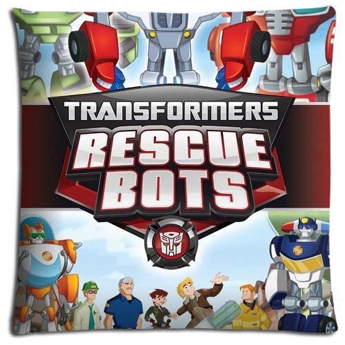 18x18 inch 45x45 cm bed kussensloop koffers Katoen Polyester Comfort Sleep Safe Transformers Rescue Bots