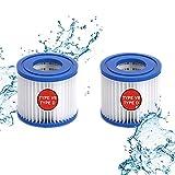 Cartucho de filtro de piscina tipo VII & D, cartucho de filtro tipo D/VII para Bestway, para Intex tipo D, para bomba de piscina SFS-350, SFS-600, RP-350, RX-600 (2 unidades)