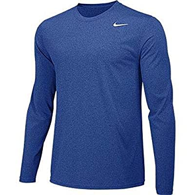 Nike Boys Legend Long Sleeve Athletic T-Shirt (Royal, Youth Medium)