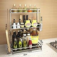 KTOL 多機能 キッチン スパイス ラック オーガナイザー, 3 層 棚ホルダー ラック 304 ステンレス鋼 ボトル瓶ラック キャビネット主催者-