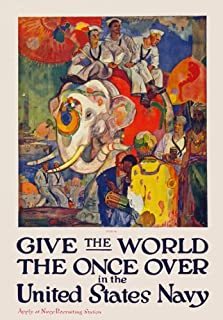 join the navy and see the world poster