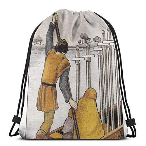 LREFON Bolsas con cordón para gimnasio, mochila, mochila para bote de remos,...