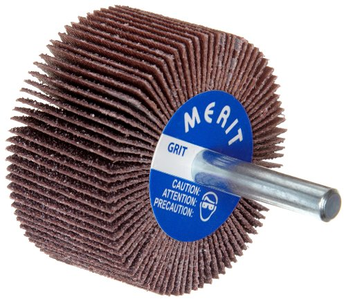 High Performance Mini Flap Wheels with Mounted Steel Shanks 10 Each 30,000 rpm 1 in x 1 in 180 Grit