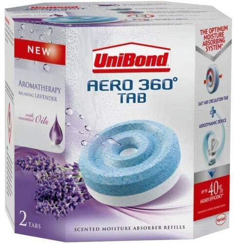 citystores Lavender - Unibond Aero 360 refills Pack of 2 - Dehumidifier Mould Trap Damp Trap Refills