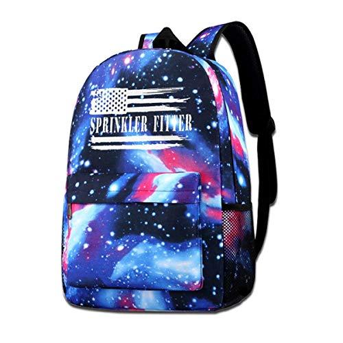 Hdadwy Aspersor Fitter Bandera Americana Unisex Star Packsack Galaxy Sky Impreso Mochila Escolar Mochila Galaxy Sky Starry Bag Daypack