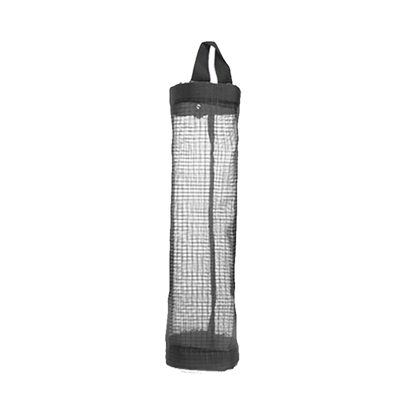反動サイレン重なるCratone グリッド袋 収納バック ゴミ袋 収納袋 小物入れ 寮袋 ブラック ポリエステル 40*12cm