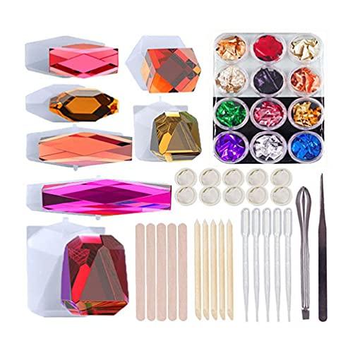 Rhomboid bloques de construcción  Cristal resina epoxi forma juguete ladrillo molde silicona molde DIY artesanía adornos herramientas de moldeado juguetes juguetes ladrillos