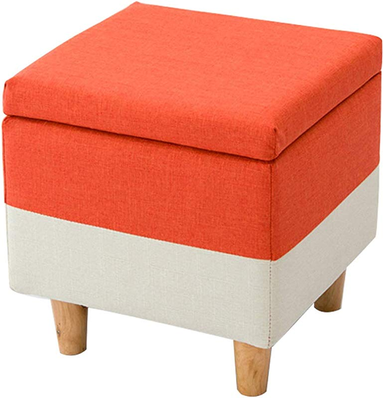 OUG Simple Household Storage Stool Fabric Solid Wood Adult Children Modern Living Room Sofa Bench
