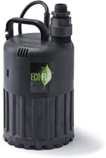 ECO-FLO Products SUP56 Manual Submersible Utility Pump, 1/3 HP, 2,880 GPH