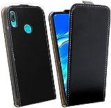 cofi1453® Flip Hülle kompatibel mit Huawei Y7 2019 Handy Tasche vertikal aufklappbar Schutzhülle Klapp Hülle Schwarz