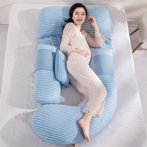 Coussin de grossesse et de maternité complet, coussin d'allaitement et d'allaitement avec housse amovible et lavable (185 * 80CM) (Couleur : A)