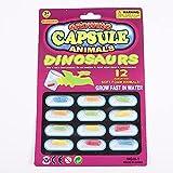 NewIncorrupt 12 unids/Set Juguete Educativo temprano nuevos Juguetes mágicos Suaves para bebés Juguetes de Dinosaurio de Dibujos Animados para niños Juguete de baño cápsula de Cultivo