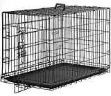 BestPet New Cat Dog cage Pet Kennel Folding Crate Wire Metal Cage W/Divider (48')