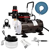 Best Air Brushes - Professional Airbrush Kit with Airbrush Cleaning Pot Brush Review