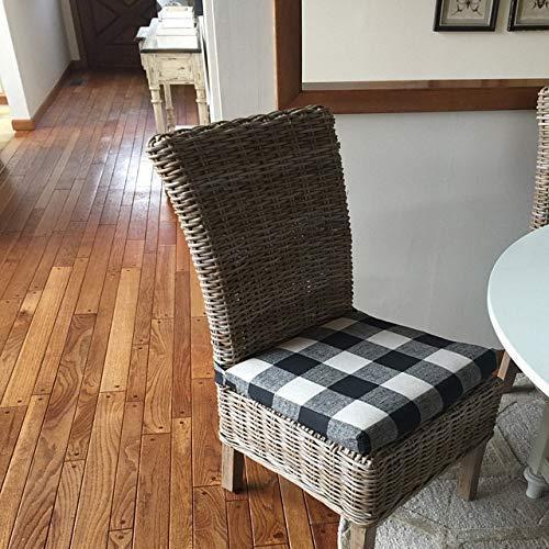 Amazon Com Chair Cushion Pad Wicker Chair Cushions Buffalo Plaid Fabric Checkered Fabric Cushions Buffalo Check Fabric Fits Most Pier One Kubo Wicker Chairs Banana Chair Cushions Handmade