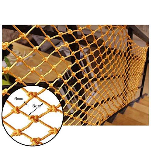 Veiligheidsnet voor kinderen, 6 mm in diameter, Beschermingsnet voor de speeltuin Hangbrug relingnet Tuindecoratie net Isolatienet Plafondgaas, Touwdiameter 5cm (Size : 1 * 9m(3 * 29ft))