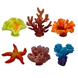 ZXSWEET Artificial Coral, Multicolor Fake Coral for Decor Aquarium, 6 Counts