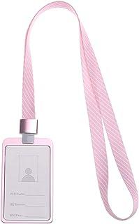 Porta badge con doppio lato One/_Size Beige Hibate in similpelle