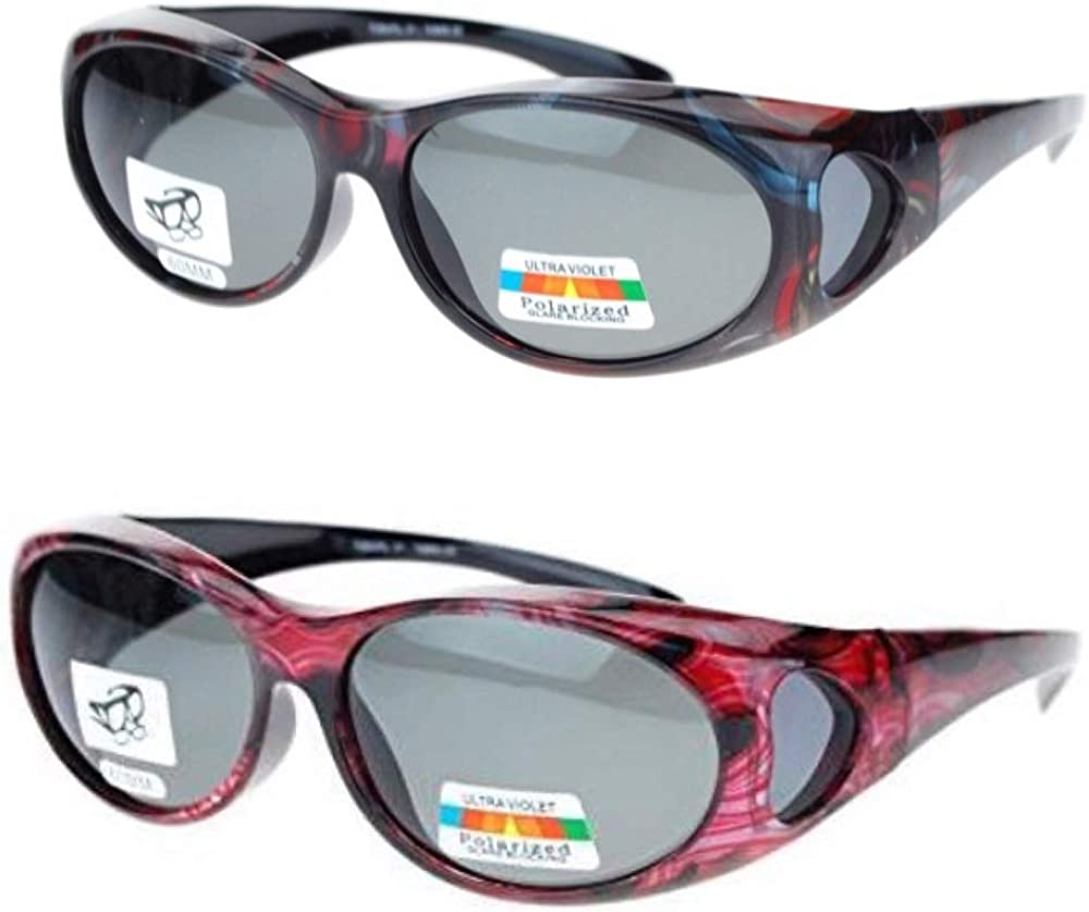 2 Pair Polarized Sunglasses Fit Glasses Wear Reading O Max 42% Sacramento Mall OFF Over