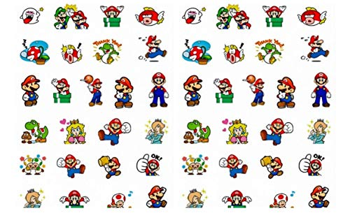 Super Mario and Characters Pixel Stickers Assorted Lot of 25 Pieces