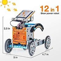 Giochi Per Ragazzi Di 8-12 Anni Maschio Giocattoli Robot Solare Educativi 12 in 1 ,Esperimento di Scienza Dell'edilizia Fai-da-te Per Bambini di Età Compresa Tra 8 e 12 Anni Robot Giocattolo #4