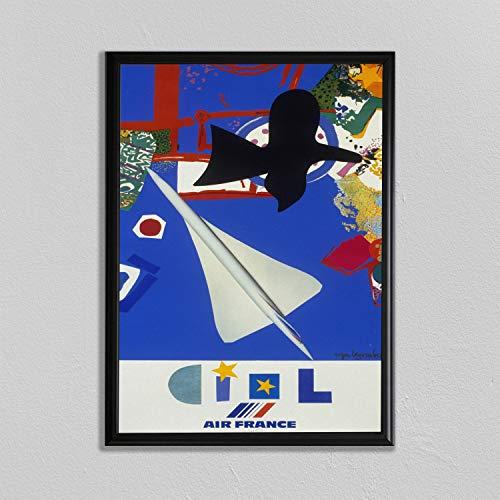 Concord Poster vliegtuig afdrukken Luchtvaart muur kunst Pilot Gift Jet Poster Vintage Luchtvaart Poster Concorde Poster Raket Print Ruimteschip