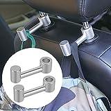 Gancho coche, Gancho de coche de aleación de aluminio, Se utiliza para carteras colgantes del asiento trasero, bolsas de comida, ropa, etc (2 paquetes)
