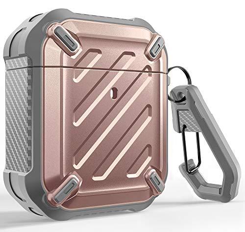 SUPCASE Funda para Airpods 1 y 2 [Unicorn Beetle Pro] Case Protectora Resistente de Cuerpo Completo con mosquetón para Apple Airpods 1...