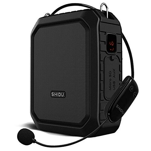 SHIDU Bluetooth Amplificador De Voz inalambrico, 18W 4400mAh Impermeable Amplificador De micrófono...