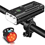 OCOOPA Bike Lights Set Rechargeable, 5200mAh USB Bicycle Lights 1200 Lumens Super Bright