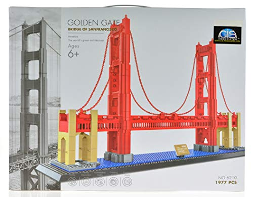 CIS-Associates 6210 The Golden Gate Bridge Building Blocks, Multicolor