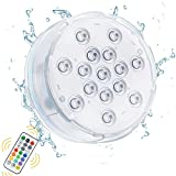 Oralys Pool Lights for Above Ground Pools,16 Colors Submersible LED Lights with RF Remote,IP68 Waterproof Magnetic Pond Lights with 16 Updated Suction Cups,Underwater Lights for Bathtub Hot Tub-1 Pack