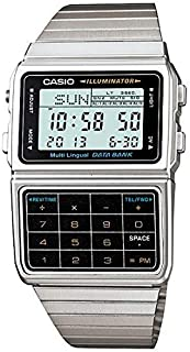 Casio Data Bank Digital Dial Stainless Steel Band Watch [Dbc-611-1], For Unisex