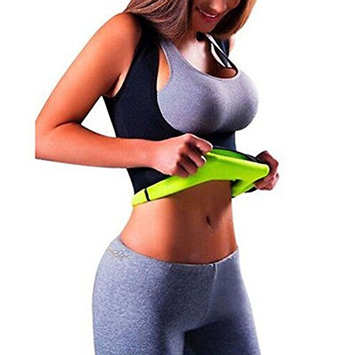 Iseymi figurformender Damen-Body, Schwitz-Body zur Gewichtsreduzierung aus Neopren, schwarz, M