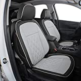 EKR Custom Fit Full Set Car Seat Covers for Select Chevy Equinox 2018 2019 - Leatherette (Gray)