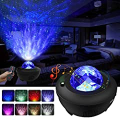 ✨【Star Projector + LED Ocean Wave Projector】 Bring a galaxy indoors& amazing aurora starry light show! The LBell Newest Star projector instantly projects a field of drifting stars against a transforming blue nebula cloud with 10 colors 360°rotational...