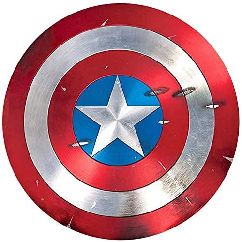 Captain America Shield Avengers Marvel, Metal Shield Advanced Copia 1: 1, Legends Series 22,5 pollici/Metallo puro (confezione in legno) B