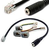 4P4C RJ9 / RJ10 a 3.5mm hembra adaptador de auriculares Cable estéreo convertidor de teléfono para iPhone Teléfonos IP de Cisco 7931G 7940 7941 7942 Plantronics MX10 Vista Modular 30CM