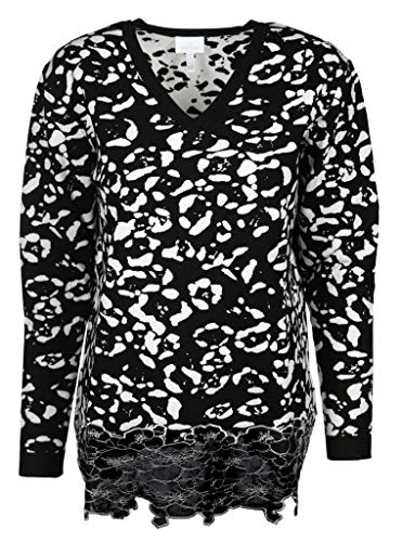 Sportalm Damen Pullover Größe 44 EU Schwarz (schwarz/weiß)