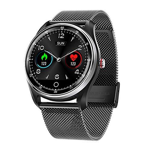 ZGNB Reloj Inteligente N58 ECG PPG para Hombres Y Mujeres, con Exhibición ECG ECG, ECG Monitor De Ritmo Cardíaco Sports Watch Smart Watch, Adecuado para Android iOS,A