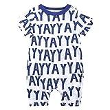 L'été Toddler Enfants Garçons Bébé Mignon De Bande Dessinée Romper Jumpsuit Outfit Vêtements Onesies Impression de Girafe de Dessin animé Combinaison(0-3 Mois,Bleu)