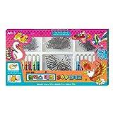AMOS Glass Deco Korean Stained Glass Kit, Suncatchers Decoration Kit, 20 Animals Deco +12 Colors Set Glas Sun Deco , Suncatchers for Kids to Paint, Made in Korea