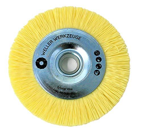 Cepillo de nailon fino, disco de limpieza apto para Bosch GWS 10,8 12 V 76, accesorios de acero inoxidable y madera Würth Berner BTI